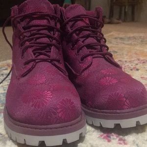 Timberland size 13 girls work boots